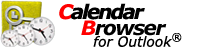 Calendar Browser for Outlook - for efficient resource handling inside Outlook