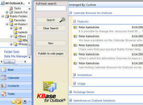 KBase for Outlook homepage